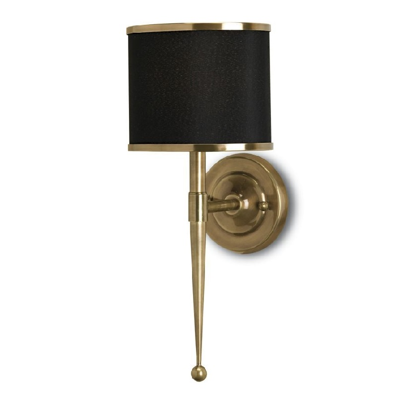 "Currey and Company 5021 Brass Primo 19""H"